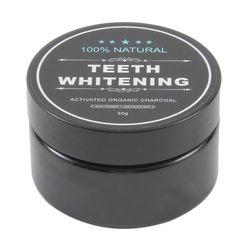30g dientes blanqueamiento limpieza carbón activado en polvo Natural seguro blanqueador de dientes blancos brillantes Dental Clean Oral higiene