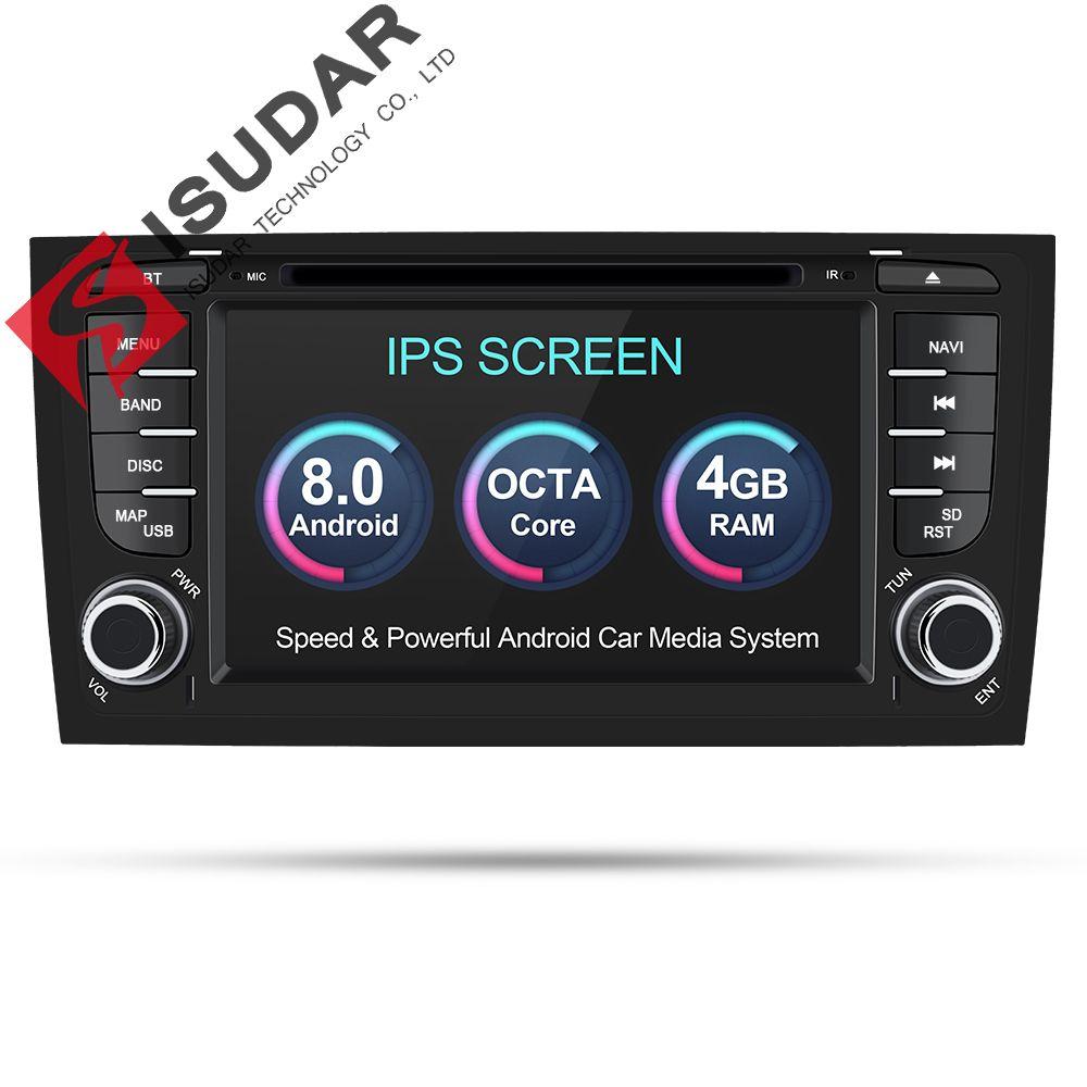 Isudar Auto Multimedia-Player Auto Radio Zwei Din Android 8.0 Stereo System Für Audi/A6/S6/RS6 GPS RAM 4 gb DSP USB DVR OBD2 FM