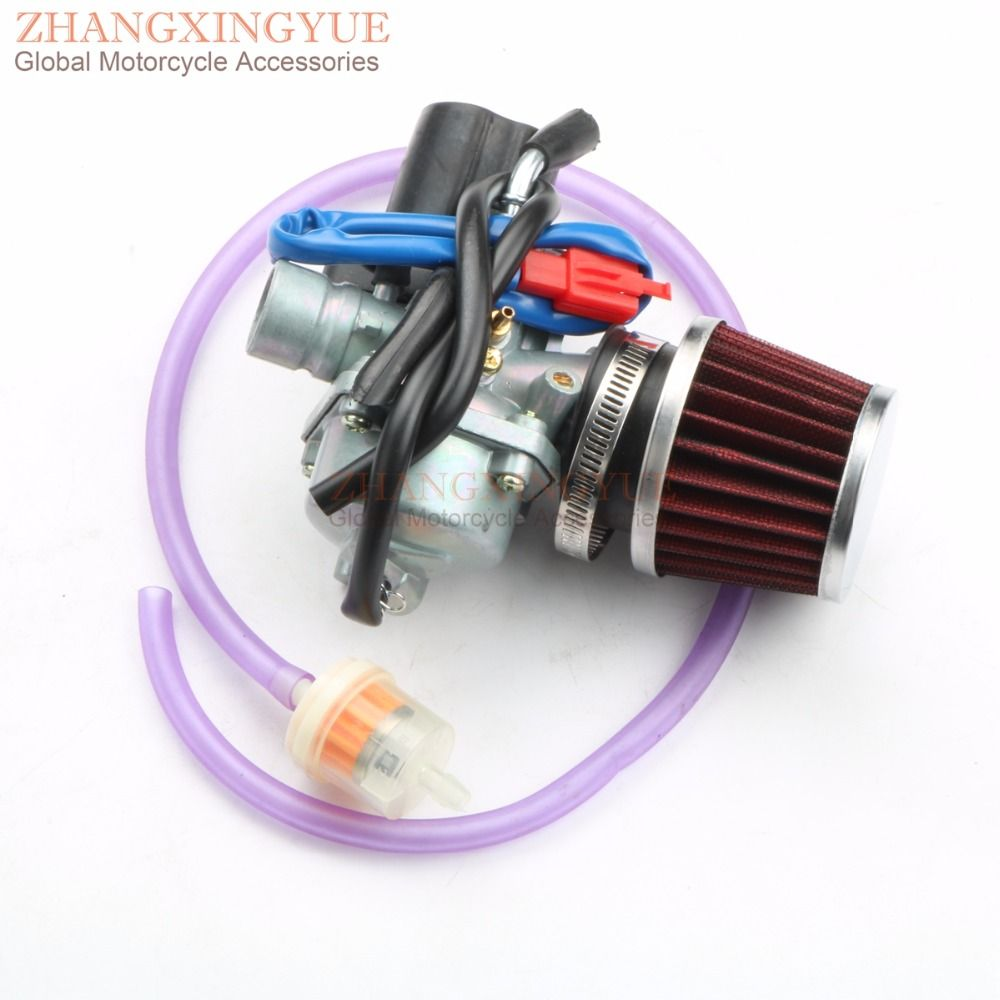 19mm Carburetor Moped Carb for 2 Stroke Candy 50 lron 50 Kallio 50 Race GT50 Race GT50B Speed 50 Spin GE50 2T 1E40QMB 1PE40QMB