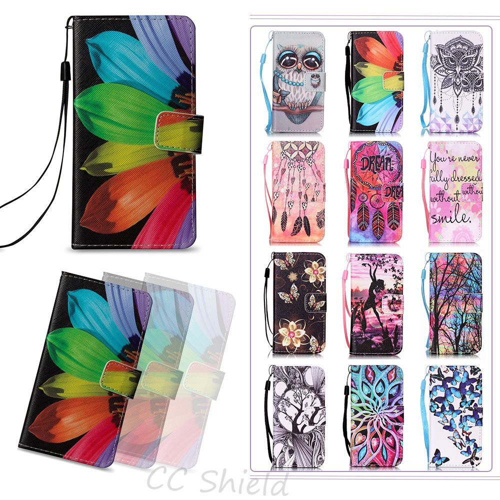 Painting Flip Case For Sony Xperia E5 XperiaE5 LTE F 3311 3313 wallet card slot phone case for Sony Xperia E 5 F3311 F3313 cases