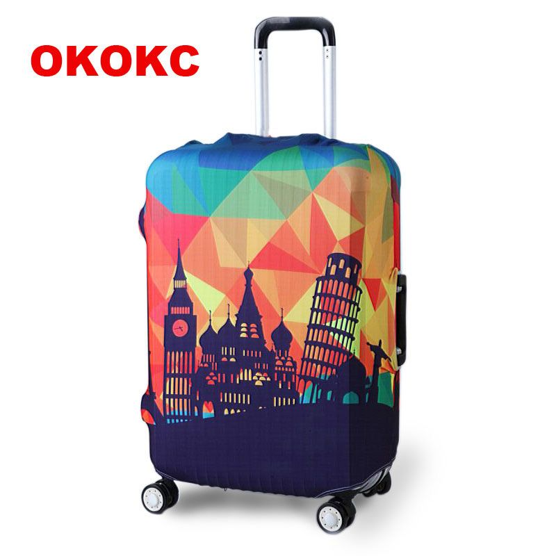 OKOKC Thicker Travel Luggage Suitcase Protective <font><b>Cover</b></font> for Trunk Case Apply to 19''-32'' Suitcase <font><b>Cover</b></font> Elastic Perfectly