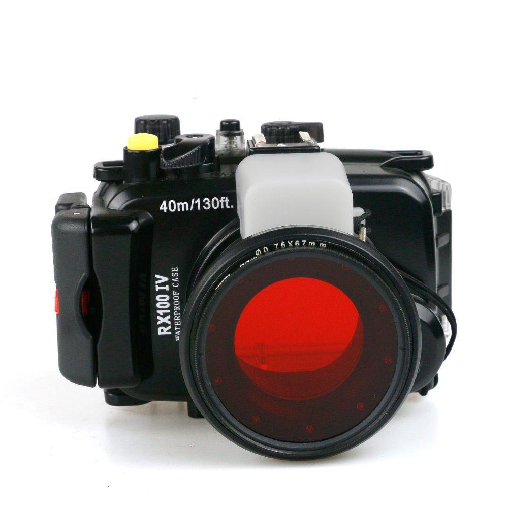 For Sony RX100-IV DSC-RX100 IV RX100IV Mark IV M4 Mark 4 underwater waterproof camera housing case+ 67mm Diving Red Filter
