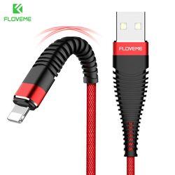 FLOVEME USB Câble Pour iPhone 8 7 Plus Salut-Traction 1 M/2 M 2A De Charge Mobile Téléphone Câbles Pour Apple iPhone X 10 IOS 11 Chargeur Cabo