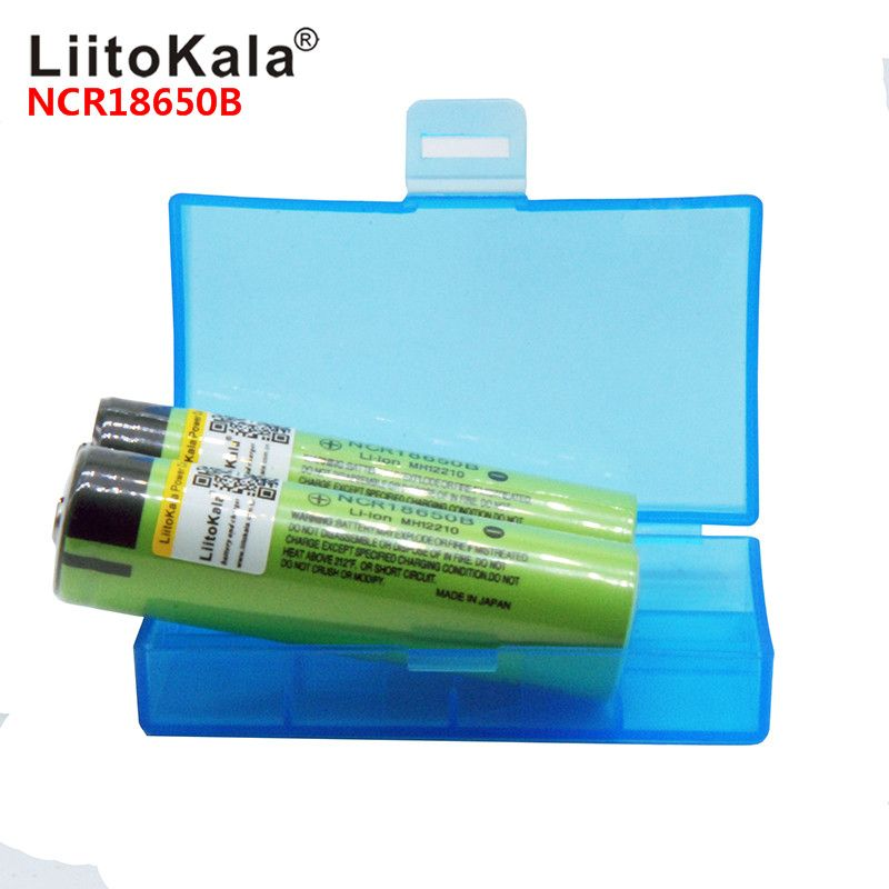 2018 LiitoKala 100% NCR18650B 3.7 V 3400 mah 18650 3400 mah Lithium Rechargeable Batterie pour lampe de poche à powr banque