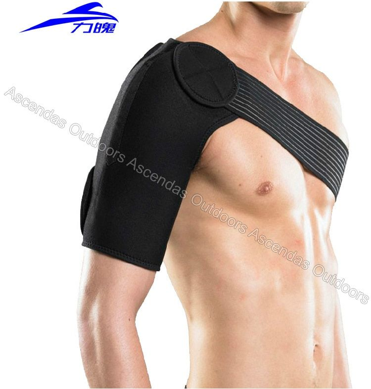 High quality Shoulder brace guard gym exercise sports upper arm protector bandage relieve pain avoid injury Shoulder Supports