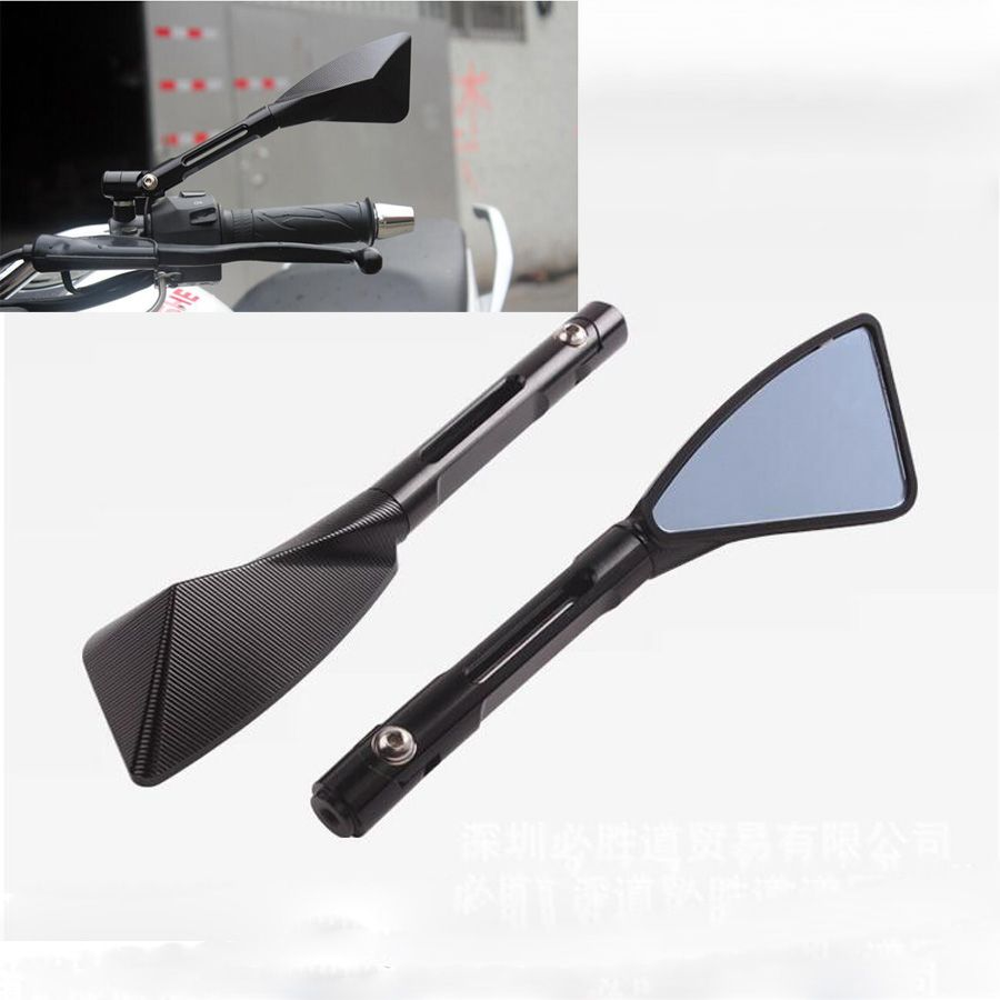 Arm Aluminum TOMOK CNC Motorcycle Rear Side Mirrors Universal For Street Bike Sport Bike Scooter