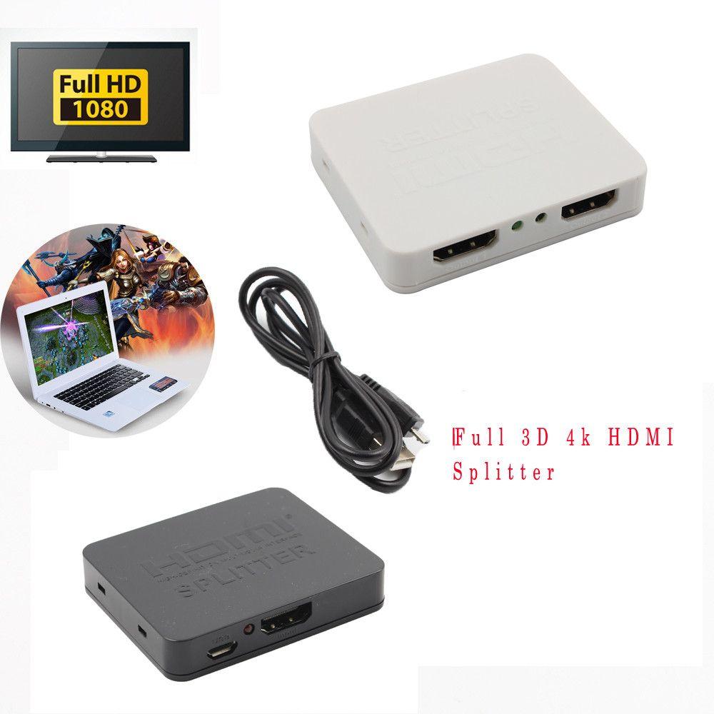 2017 Boutique Numérique Haute Qualité Bonne Vente Utile Full 3D 4 k HDMI Splitter 1x2 1 en 2 Out Répéteur Amplificateur Connecter 2TVs Nov9