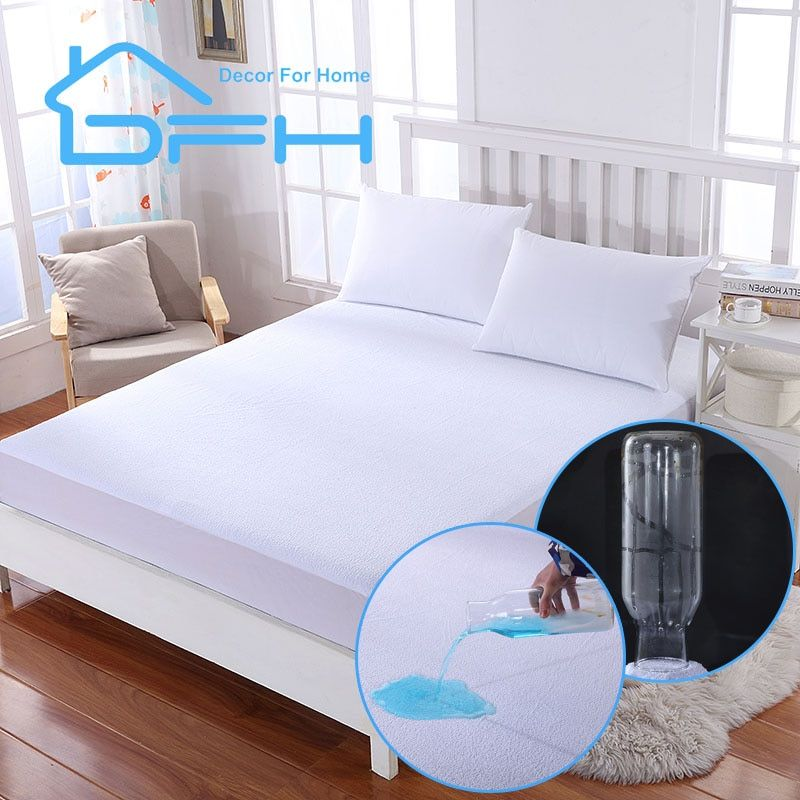Ruissan size mattress cover ALL size Terry Waterproof Mattress Protector Cover For Bed mattress <font><b>pad</b></font> Suit For size Anti-mite