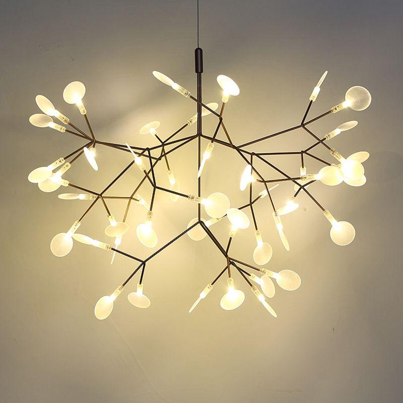 Toolery Post moderne LED Kronleuchter Licht Baum zweig technik von leitfähigen schichten Nordic Kunst Dekoration 30/45 kopf kreative