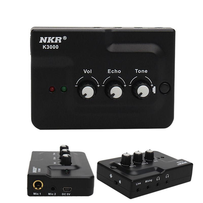 Carte son professionnelle de diffusion en direct Interface Audio d'écho entrées de Microphone doubles externes Plug Play pour l'enregistrement vidéo du téléphone