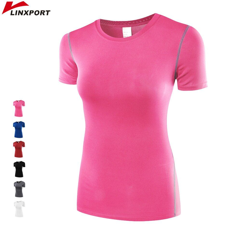 Professionnel T Chemises pour Femmes Fitness Collants Running Sport à manches Courtes Séchage rapide T-shirts Jogging Des Exercices De Yoga Tops Maillots