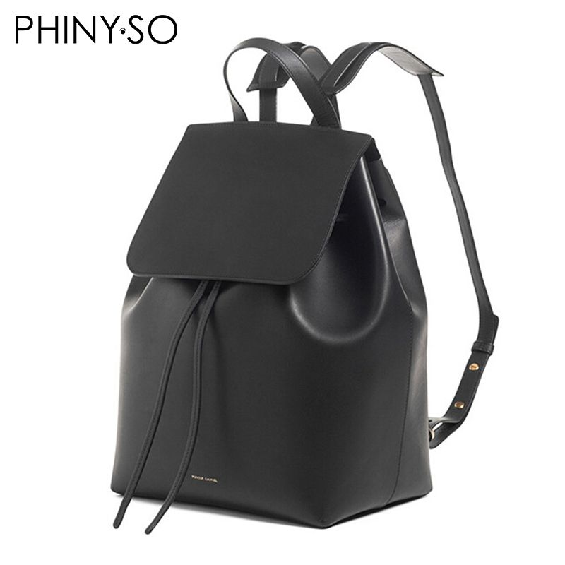 famous brand bolsas fashion women genuine leather lady bags cow leather backpack brand bag Shoulder bags Backpacks solid Cover
