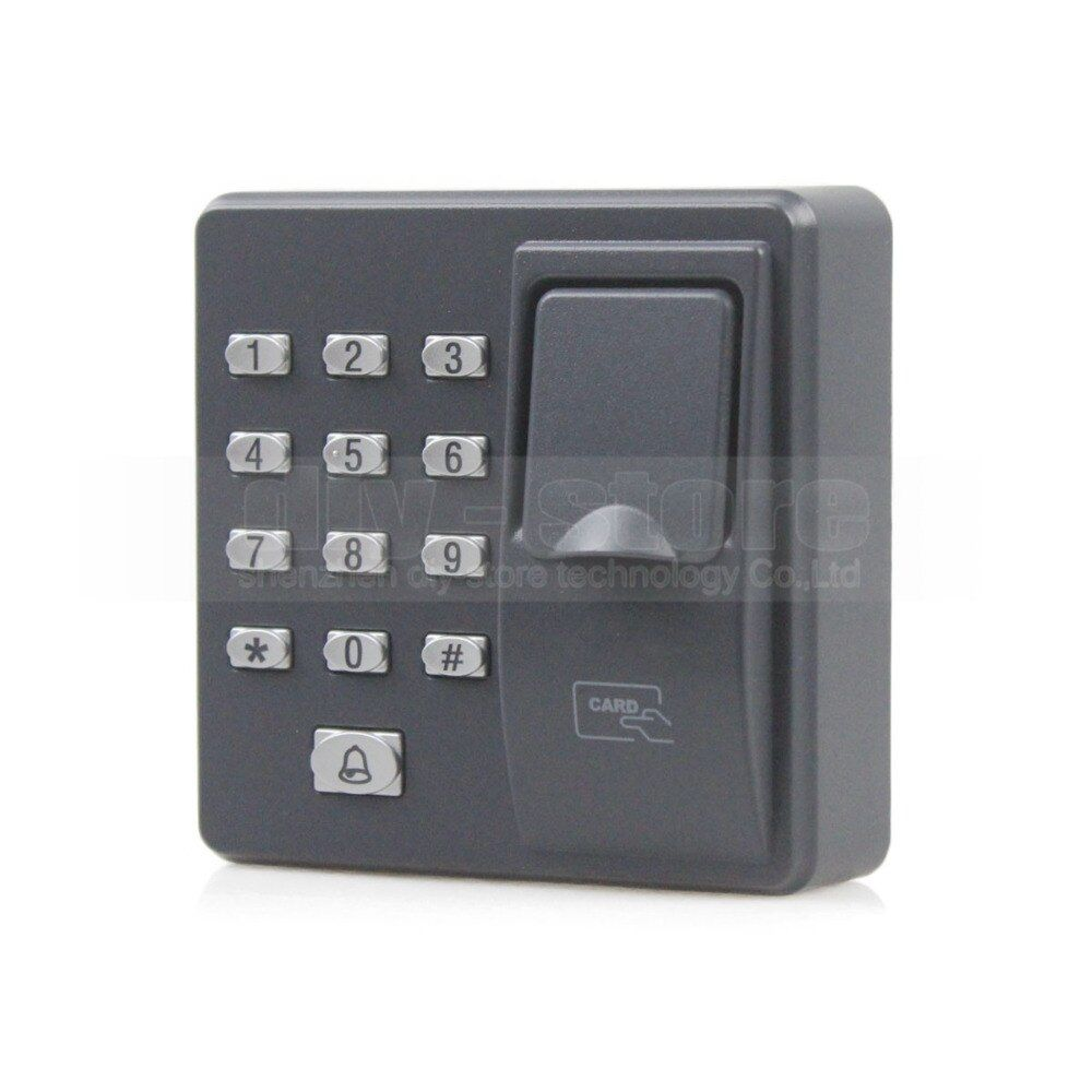 DIYSECUR Código Lector RFID Biométrico de Control de Acceso por Huella Digital de La Máquina Eléctrica Sistema de Cerradura de La Puerta Contraseña Del Teclado