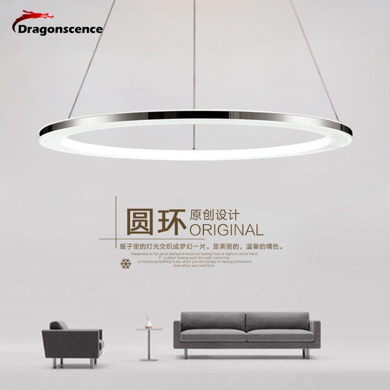 Moderne led anhänger lichter Remote Kreis ring anhänger abajour luminaria glanz für esszimmer wohnzimmer schlafzimmer küche salon