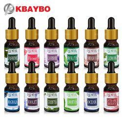 Marque Nouvelle soluble dans L'eau Huile Huiles Essentielles pour Aromathérapie Lavande Huile Humidificateur D'huile avec 12 Sortes de Parfum Rose