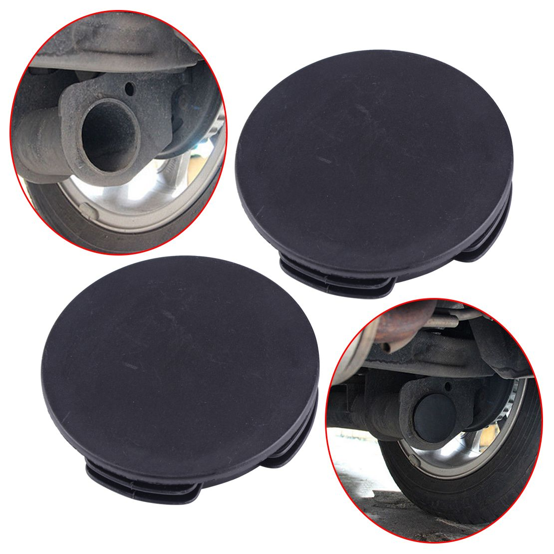 DWCX Exhaust Tail Pipe Tip Muffler Protector Cap Water Baffle Cover for Benz Smart Fortwo Forfour W451 2008-2014 Specification