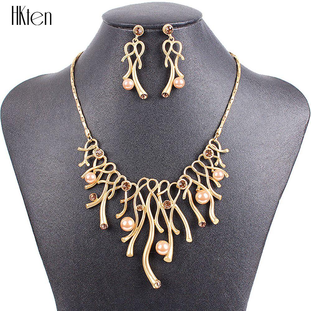 MS20230 offre spéciale marque ensembles de bijoux Design de mode bijoux de mariée collier de femme ensemble de haute qualité or collier cadeaux de fête