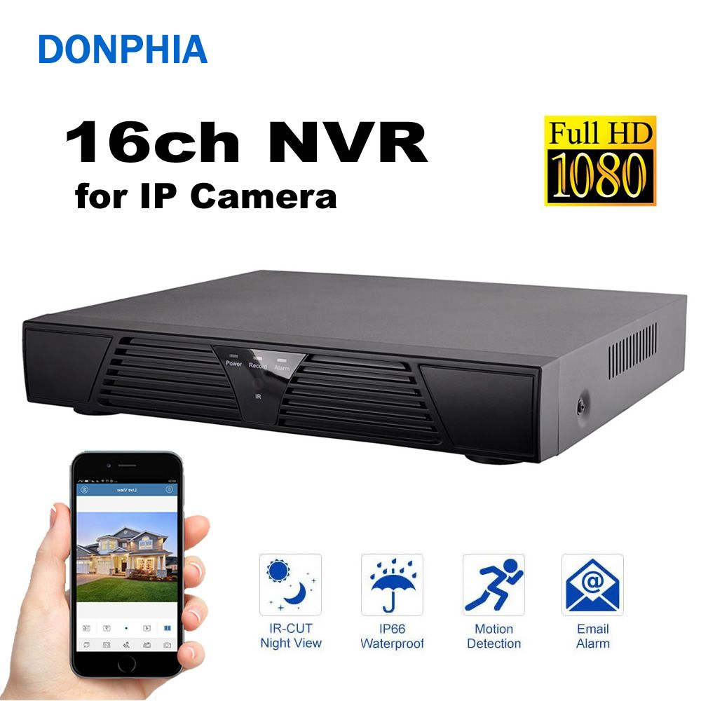 16ch NVR 1080P Network Video Recorder Video Connect IP Camera Surveillance Security System DVR