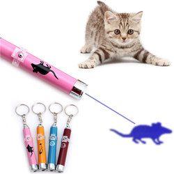 الإبداعية مضحك الحيوانات الأليفة LED الليزر القط القطط لعبة ل القط مؤشر ليزر القلم التفاعلية لعبة مع مشرق الرسوم المتحركة ماوس الظل