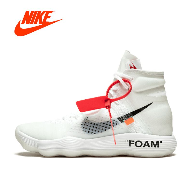 Original New Arrival Authentic Nike Hyperdunk 2017 FK Off White Men's Basketball Shoes Sport Sneakers Good Quality AJ4578-100