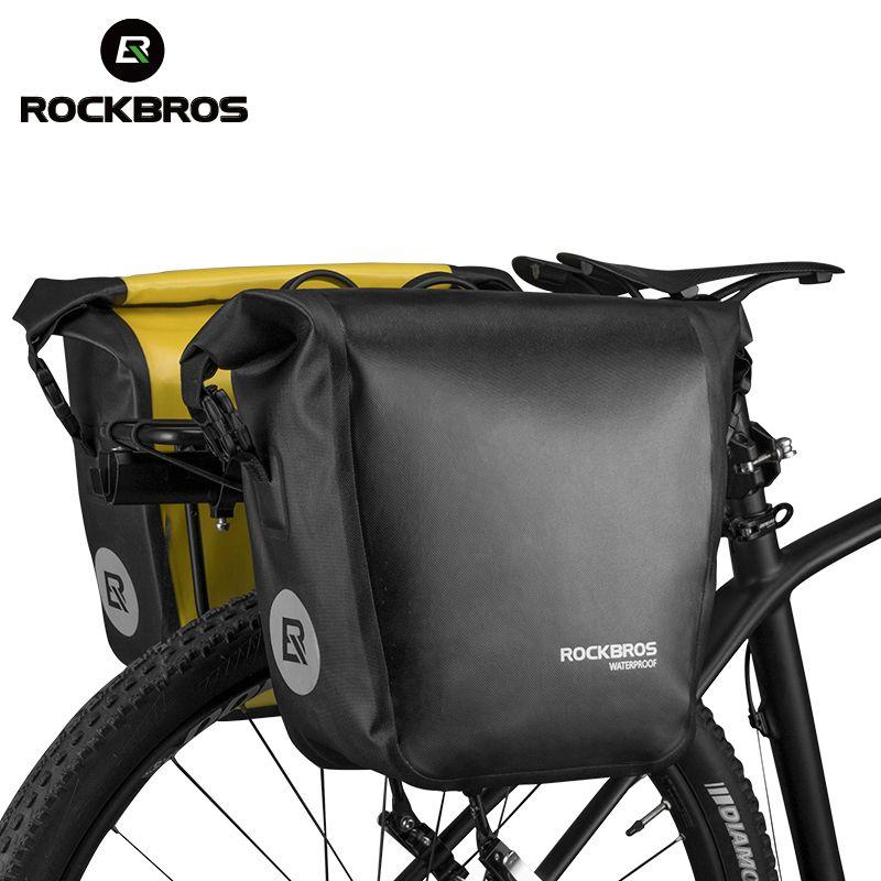 ROCKBROS Bicicleta A Prueba De Agua Bolsa de Portátil 18L Bike Bag Pack Tronco Trasera Bastidor de Asiento Pannier Bolsa de Ciclismo MTB Bike Accesorios