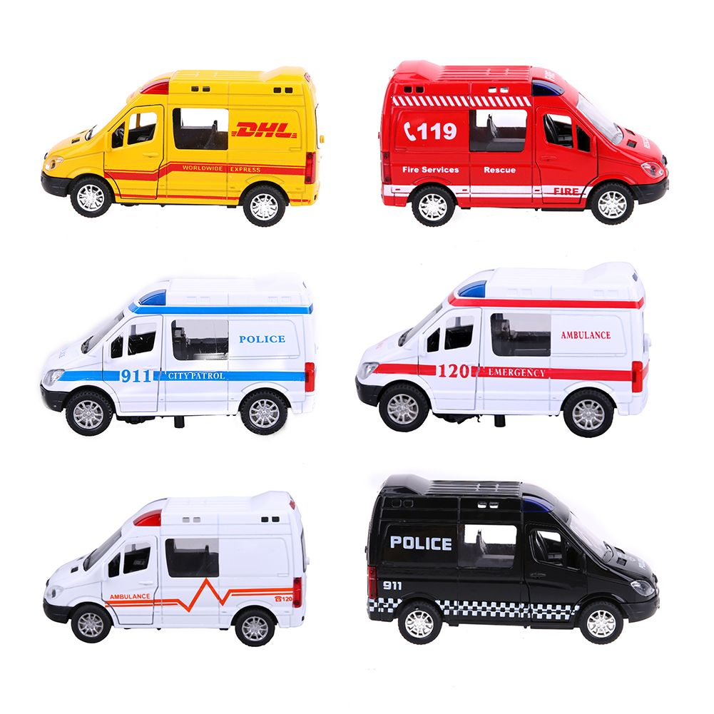 Force Control Pull Back Alloy Car Toys Police Car Ambulance Fire Fighting Truck Model Toys Birthday Xmas Gift For Kids Cars Toys