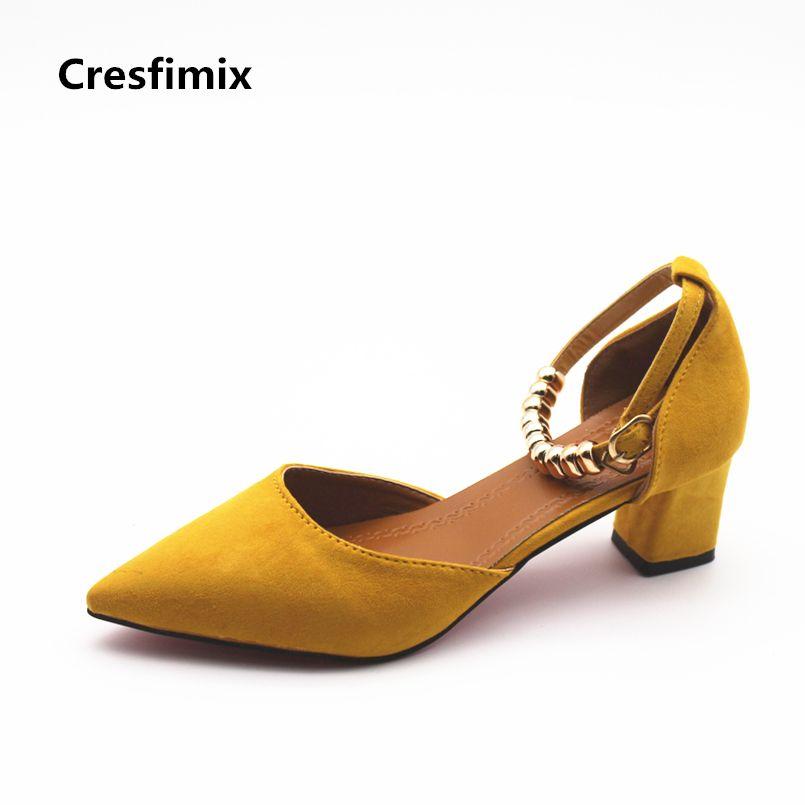 Cresfimix femmes hauts talons women fashion spring & summer slip on high heel pumps lady cute comfortable high heel shoes b888