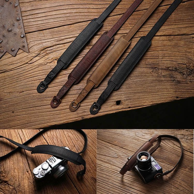 Mr.stone Handmade Genuine Leather Camera Strap Camera Shoulder Sling Belt For Canon <font><b>Nikon</b></font> Sony FUJI Fujifilm Leica Pentax