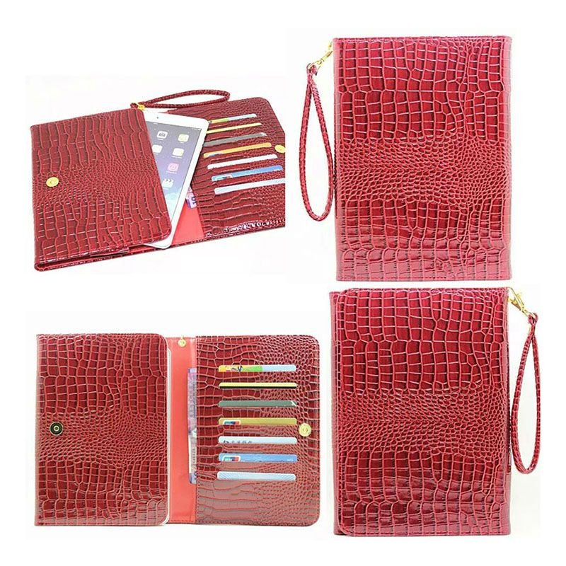 Universal Crocodile PU Leather Case Cover For samsung Galaxy tab 4 8.0 T330 T331 T335 8 inch Tablet +Center flim KF431C