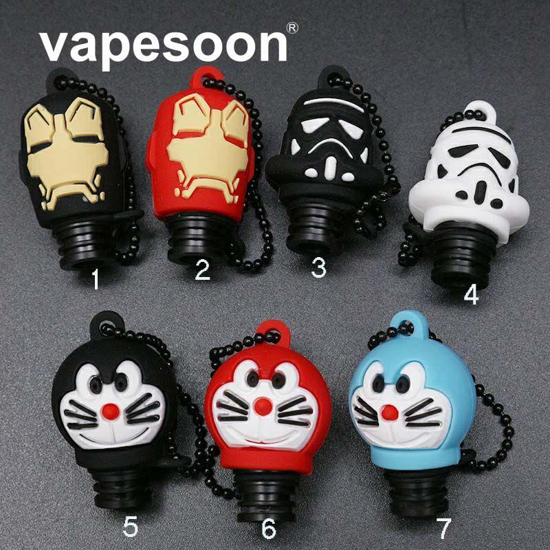 VapeSoon 510 POM Tropfspitze Silikon Kappe Doraemon Iron Man Star Wars Stype Tropfspitze Für 510 Wie Melo 2 Obertank Mini