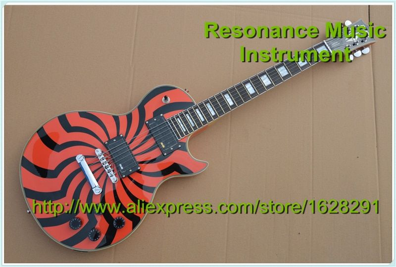 High Quality Custom LP Electric Guitar Zakk Wylde Bullseye Signature With Chrome Hardware