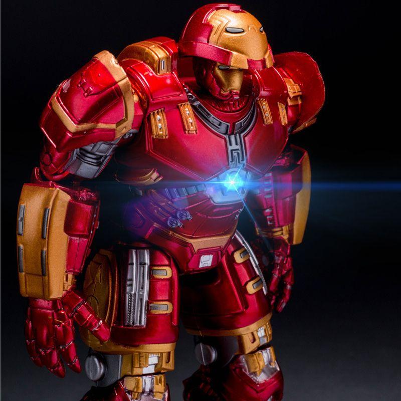 Avengers 2 Iron Man Hulkbuster Armure Articulations Mobiles 18 cm Marque Avec Lumière LED PVC Collection de Figurines Modèle Jouet # E