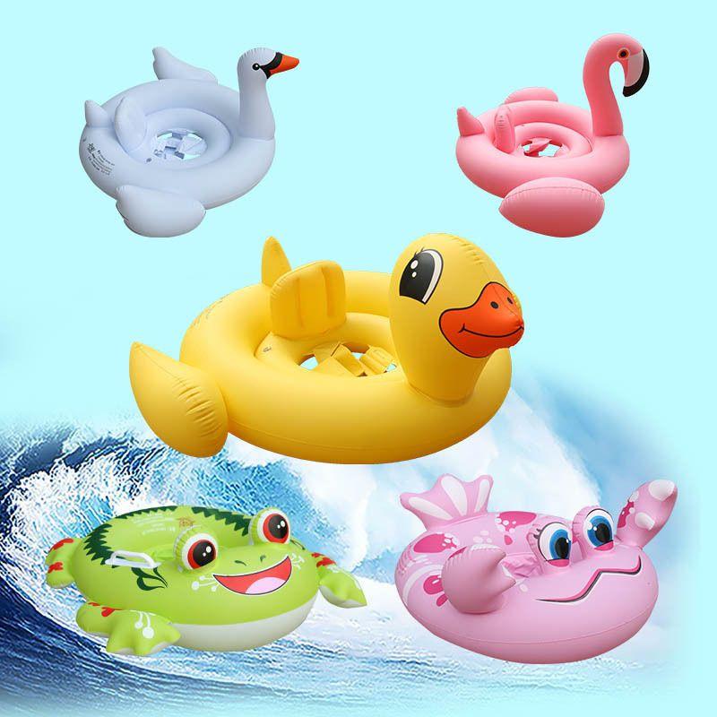 Kinder Schwimmring Aufblasbare Flamingo Schwimmen Kind Rettungsring Kind Montieren Spielzeug Baby Badeanzug sitz Achselhöhle Kreis Außen Strand Pool