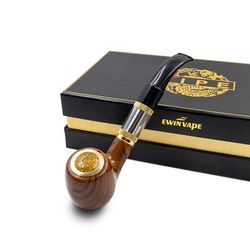 Rokok Elektronik E Pipa 618 Epipe 618 Kit Ewinvape Elektronik Merokok Pipa dengan Kayu MOD 2.5 Ml Penyemprot 18350 Baterai