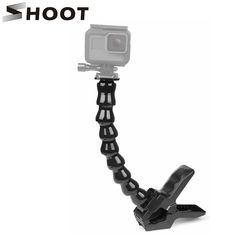 SHOOT Adjustment Jaws Flexible Clamp Mount for GoPro Hero 6 5 4 Session SJCAM Xiaomi Yi 4K Camera Tripod 24cm Go pro Gooseneck