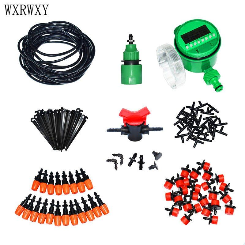 wxrwxy Automatic irrigation system watering kit Drip irrigation system gardening tool kit automatic <font><b>garden</b></font> watering 1 set