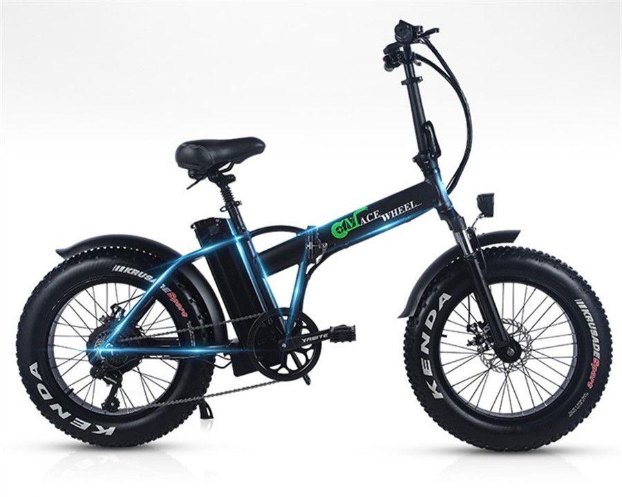 EUR Lager Keine Steuer 500W Folding Fett Reifen 2 Rad Elektrische Bike 48V 15ah Abnehmbare BT Strand Cruise booster Elektrische Fahrrad Schnee
