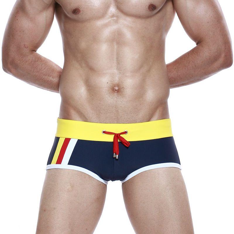 SEOBEAN Men's Swimwear Boy's Swimsuit Swim Trunks Shorts Nylon Spandex Swim Briefs Man Bathing Underwear Sport Pants Hot Sexy