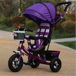 Portabel lipat sepeda bayi sepeda bayi sepeda anak tiga roda mobil 1-3-6 tahun bayi anak stroller sepeda Hadiah