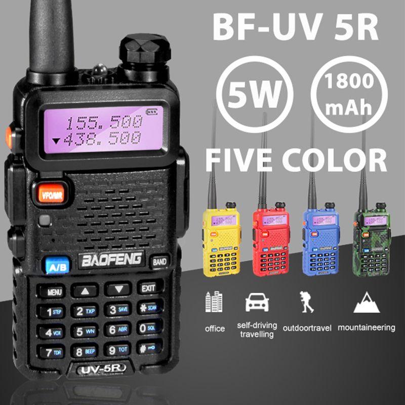 Baofeng UV-5R Professional Walkie Talkie 5W UHFVHF Portable UV5R Two Way CB Radio Station UV 5R Hunting HF Transceiver Ham Radio