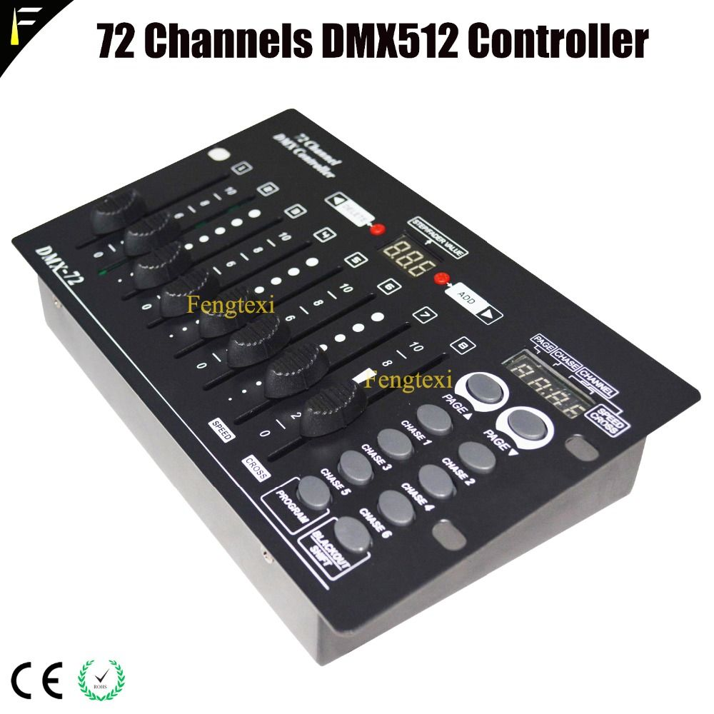 Compact DMX512 72 Channels Controller Board Device Small Club Wedding Stage Lighting Program Dimmer Console 72CH