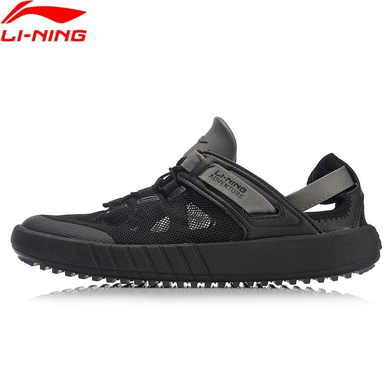 Li-Ning Men WATER 2018 Outdoor Aqua Shoes Breathable Wearable Beach LiNing Light Weight Water Sandals Sneakers AHLN001 XYD123