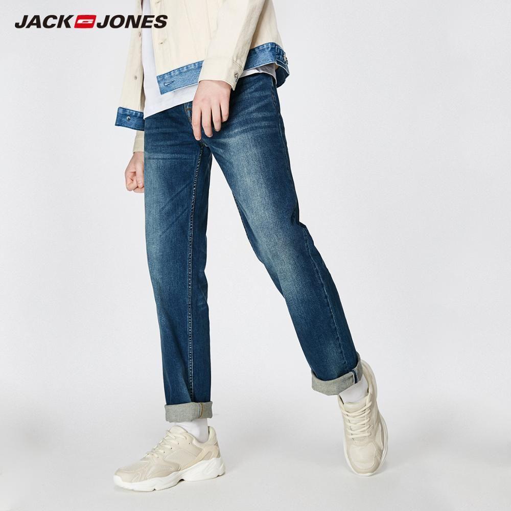 JackJones 2019 New Men's Stretch Jeans men Elastic Cotton Pants Loose Fit Denim Trousers Men's Brand Fashion Wear 219132584