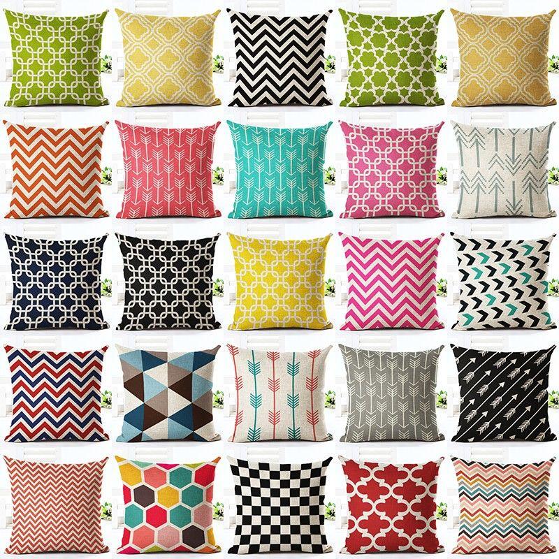 Neue Bunte Geometrische Serie Bedruckte Bettwäsche Baumwolle Kissenbezug Wohnkultur Haushaltswaren Werfen Kissenbezug Almofadas Cojines