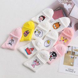 Весна Лето Высокое качество милые забавные Harajuku мультфильм женские носки животные шаблон повседневные хлопковые короткие носки для женщин...