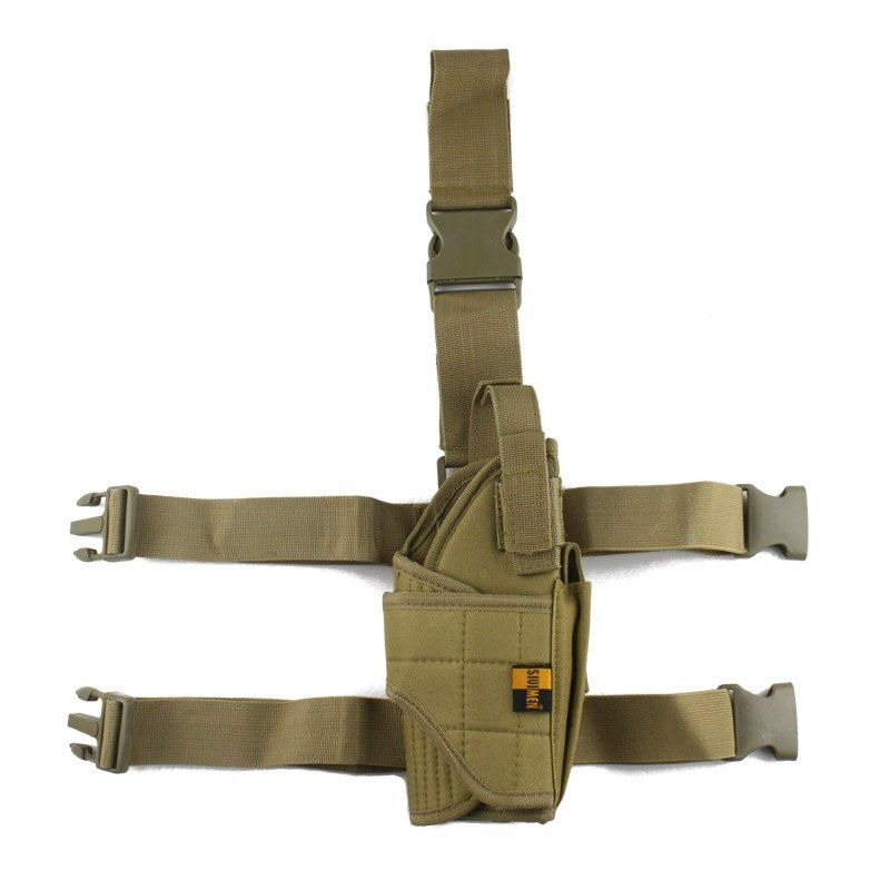 Adjustable Military Airsoft Holster Hunting Tactical Pistol Drop Leg Holster <font><b>Thigh</b></font> Gun Holster for right hand