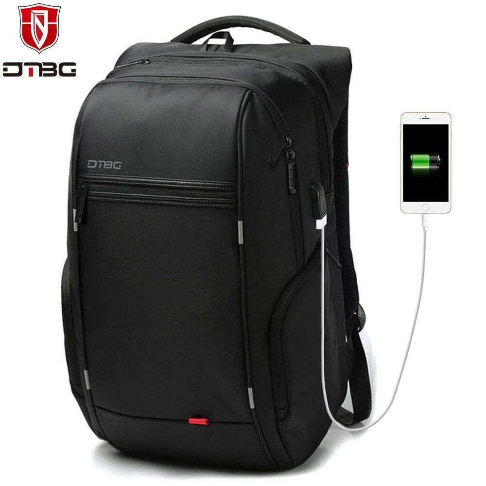 DTBG Backpack Men Women 15.6 17.3 School Backpacks with USB Charge Port Waterproof Travel Bags Anti-theft Laptop Bag for Macbook