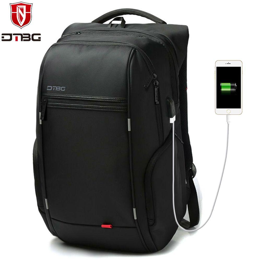 DTBG Backpack Men Women 15.6 17.3 School Backpacks with USB <font><b>Charge</b></font> Port Waterproof Travel Bags Anti-theft Laptop Bag for Macbook