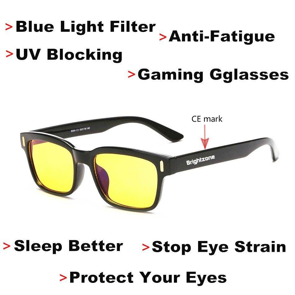DYVision protège vos yeux Anti-Fatigue blocage des UV lumière bleue filtre Stop Protection contre la Fatigue oculaire lunettes de jeu [dormir mieux]