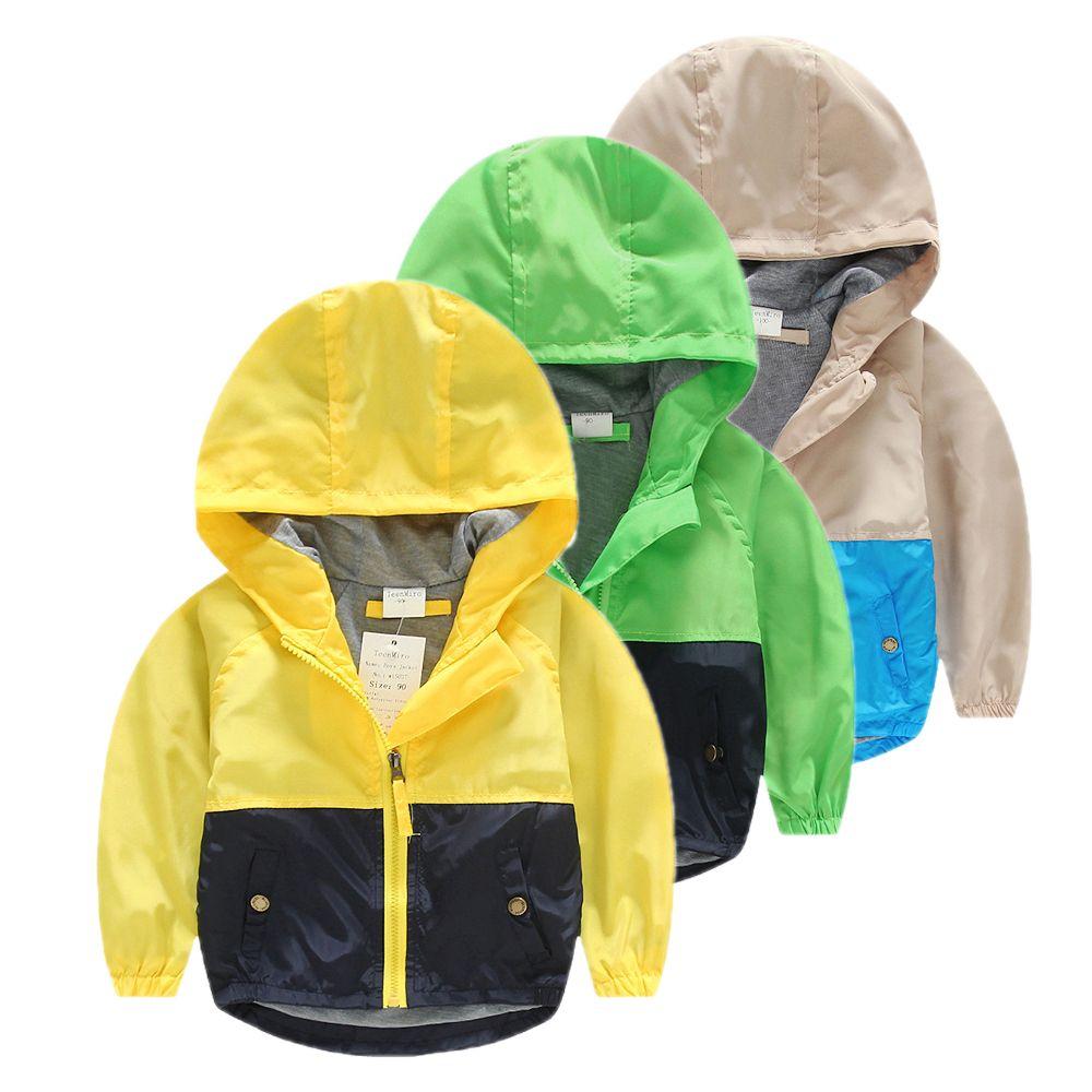 Los Niños encapuchados Rompevientos chaquetas para la Chaqueta de Los Muchachos Capa de Las Muchachas Del Resorte Del Bebé Ropa Niños Minnie Prendas de vestir exteriores Traje de Niño Chaqueta